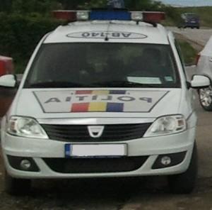 masina politie rutiera accident