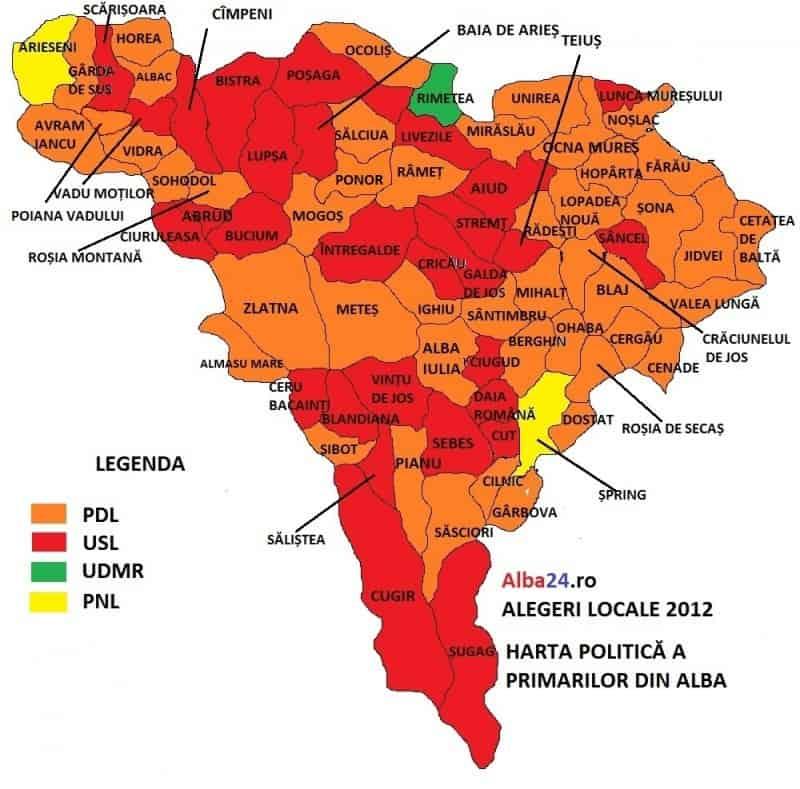 Harta Primarilor Din Alba Vezi Ce Scor Au Obținut Candidații La