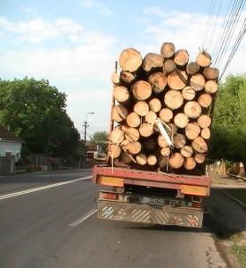 TIR cu lemn