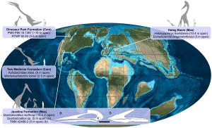 harta pterozaur