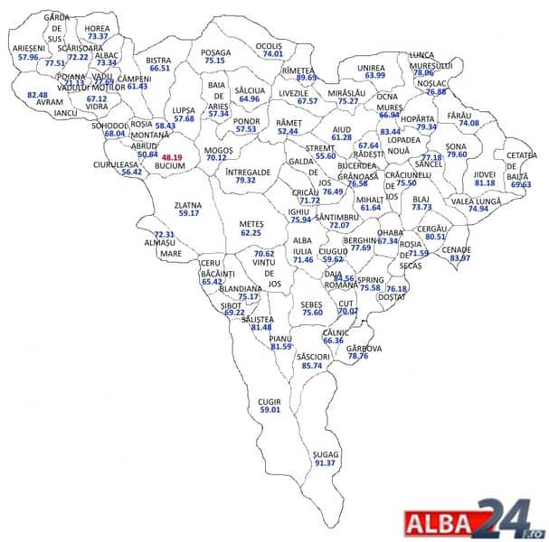 Prezidenţiale 2014 Harta Votului In Alba Cat A Castigat Iohannis