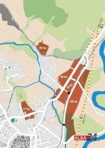 harta industriala, terenuri gratuite alba iulia