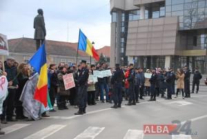 protest alba iulia, poluare sebes