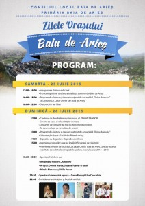 zilele orasului baia de aries program 2015