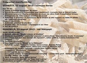 program targul lemnarilor 2015 horea