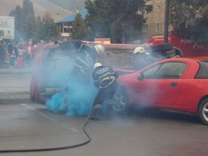 interventie pompieri accident