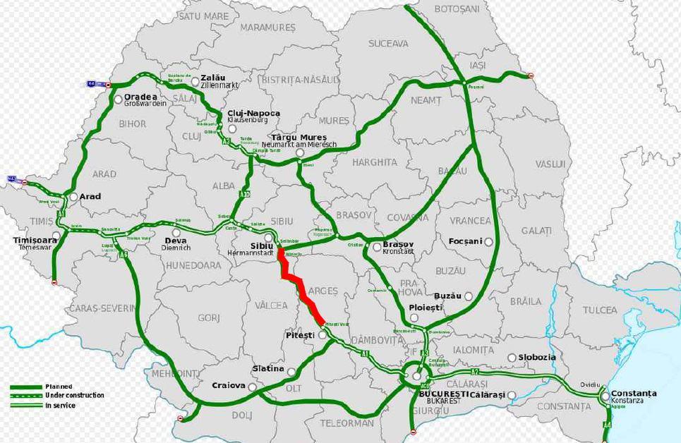 Autostrada Sibiu Pitesti Traseul Final Avizat De Cnair Cel