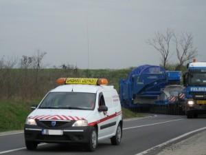 transport agabaritic, gabarit depasit convoi