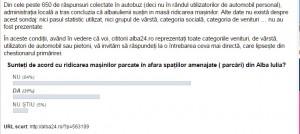 Rezultatele sondajului, 03.05.2017, ora 15,00