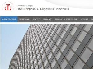site onrc registrul comertului
