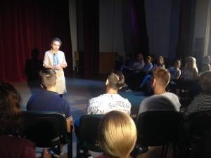Katia Pascariu în dialog cu tinerii