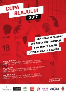 Afis Cupa Blajului la volei feminin   2017