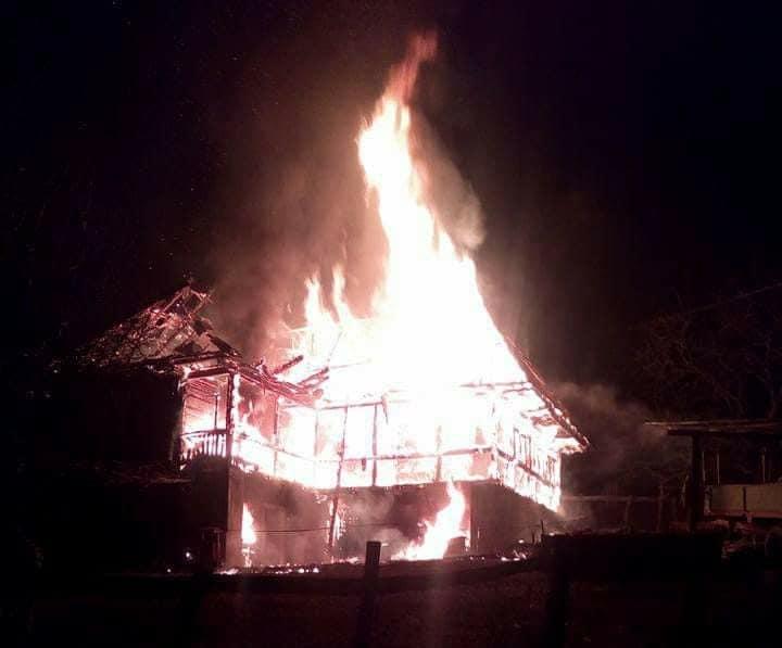 incendiu cabana