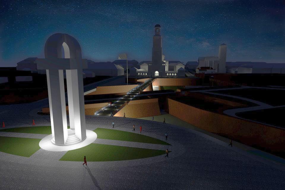 monumentul unirii noaptea