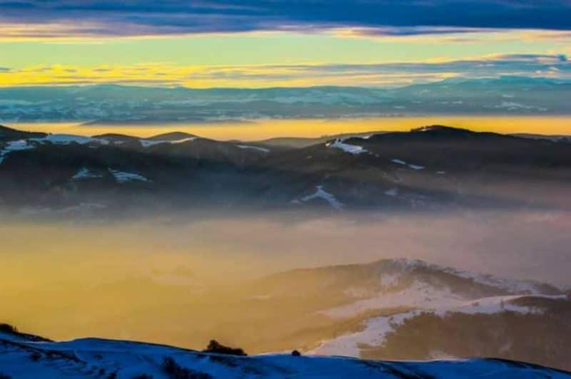 munte iarna