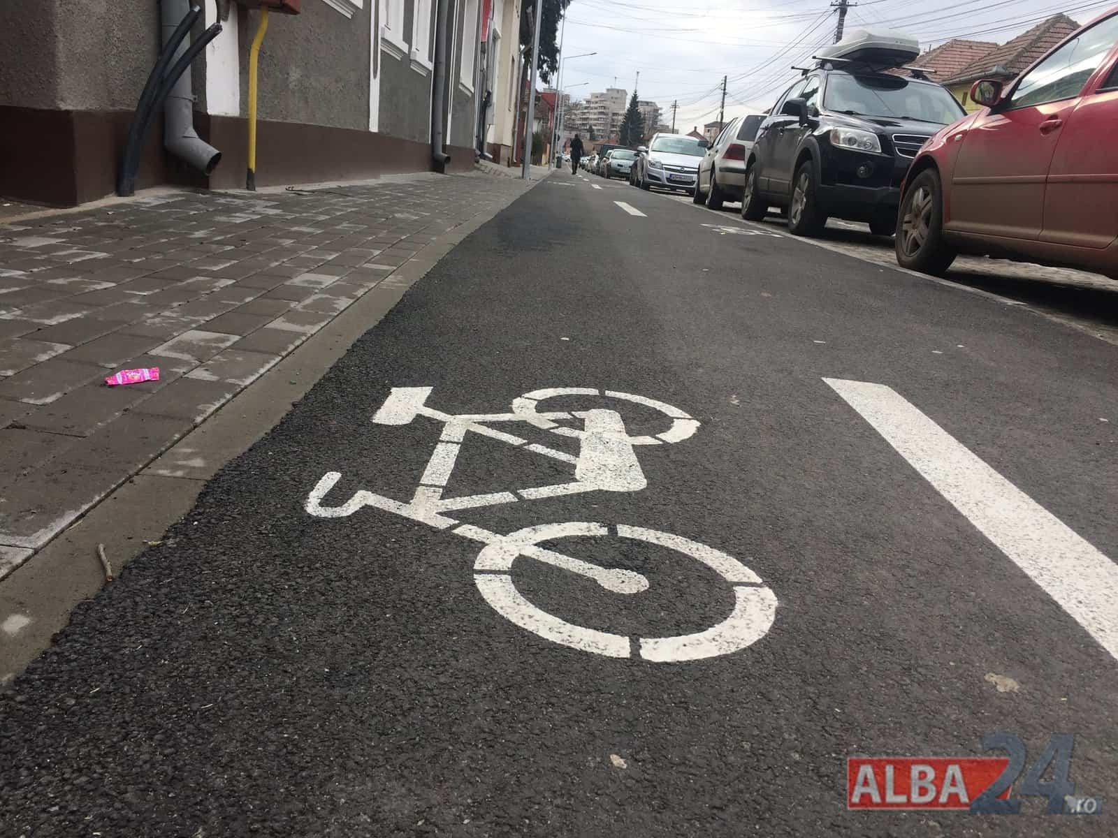 pista de biciclete in alba
