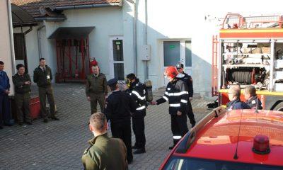 Simulare incendiu Centrul Militar Judetean Alba