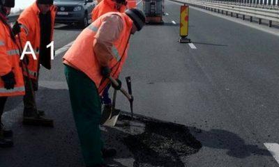 Lucrari reparatii A1 autostrada CNAIR