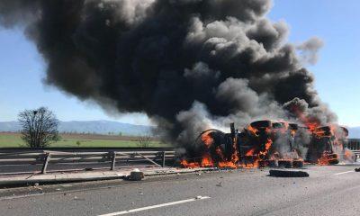 cisterna foc autostrada