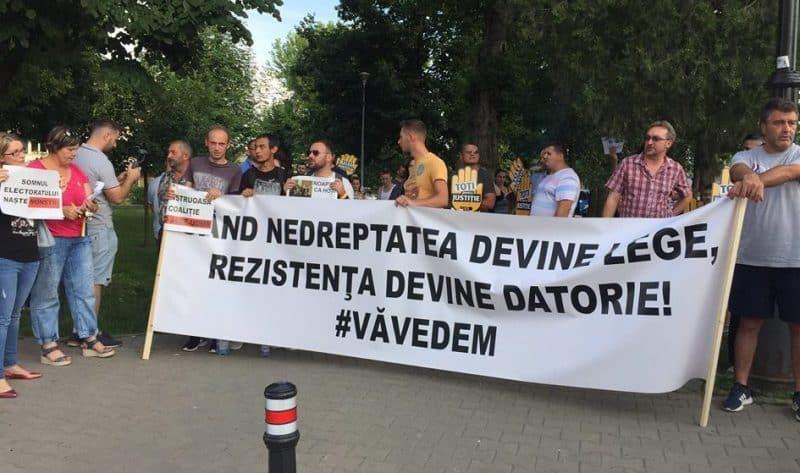 protest alba iulia