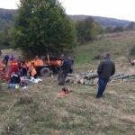 tractor rasturnat SMURD