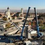 montare monumentul unirii
