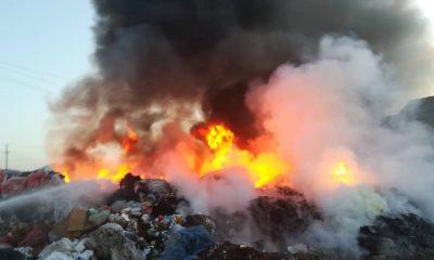incendiu groapa de gunoi