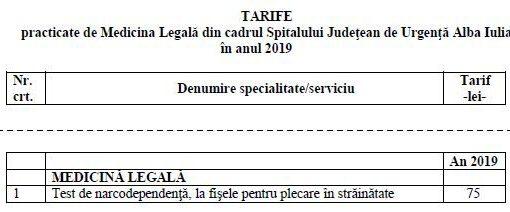 tarife med legala 2019