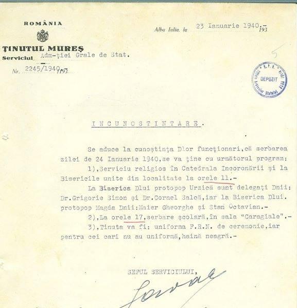 mica unire 1940 program arhive