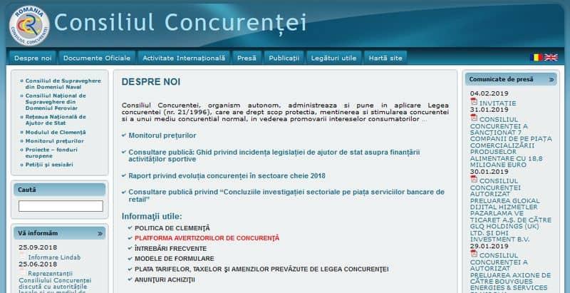 consiliul concurentei site