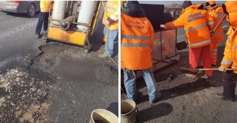 lucrari reparatii autostrada