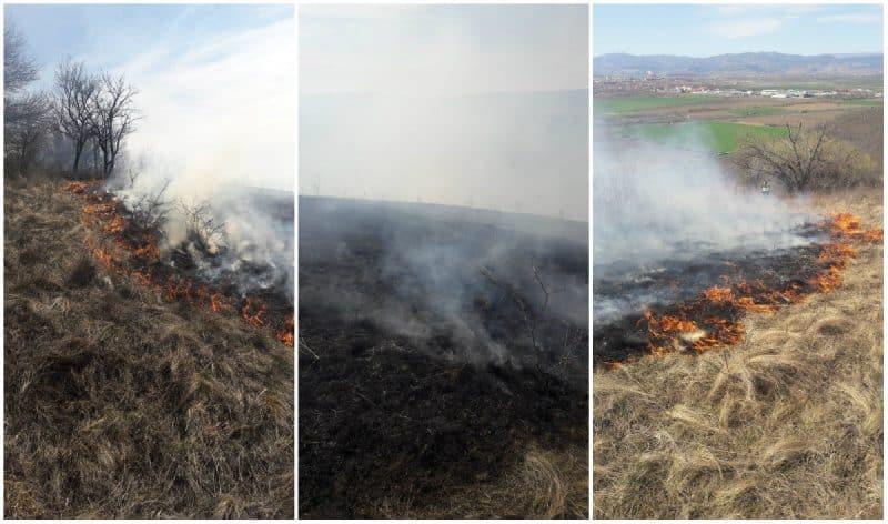 incendiu vegetatie langa sebes