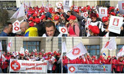 protest sanitas bucuresti 6 martie