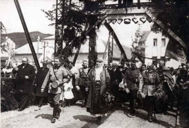 podul-din-Cimpeni-inaugurat-de- regele Ferdinand-si-regina-Maria