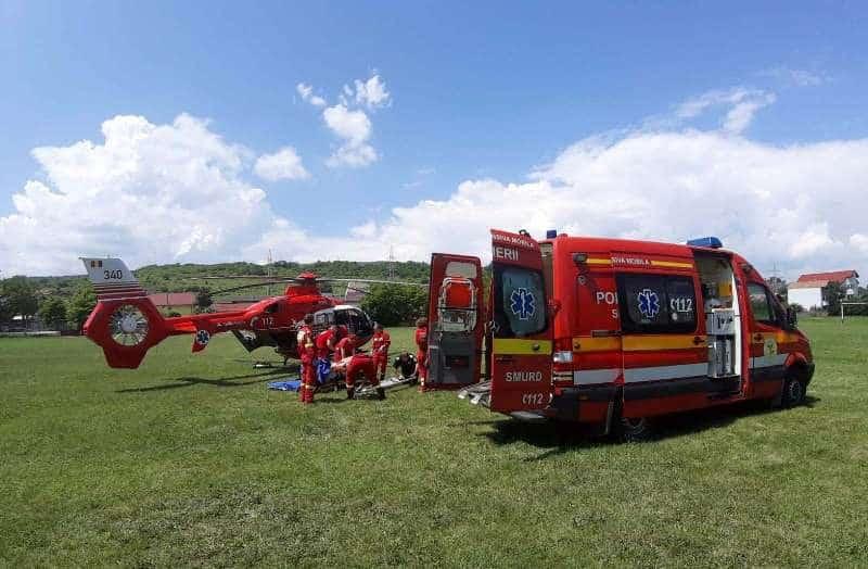 SMURD elicopter interventie
