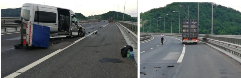 accident viaduct aciliu 17 iunie 2019