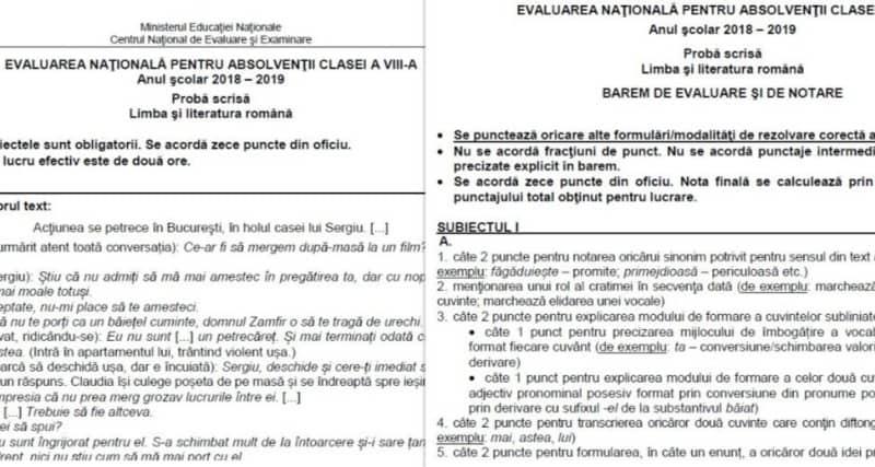 colaj subiecte EN VIII 2019