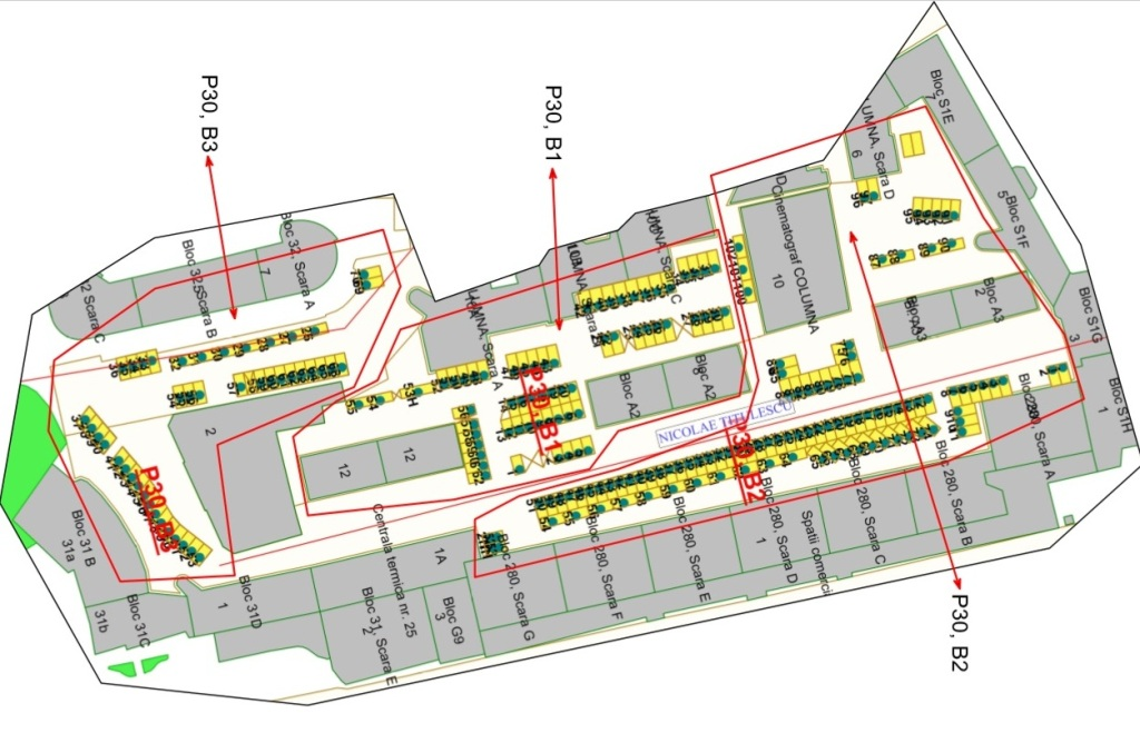 harta locuri noi parcare centru 280 columna alba iulia