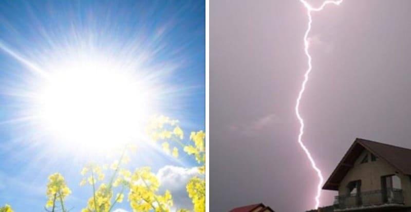 soare furtuna fulger