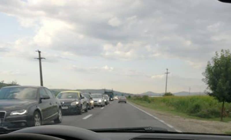coloana trafic DN 1 Aiud Teius