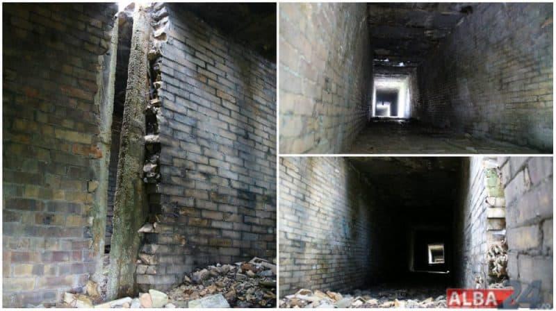 interior tunel gaze Ampelum Zlatna