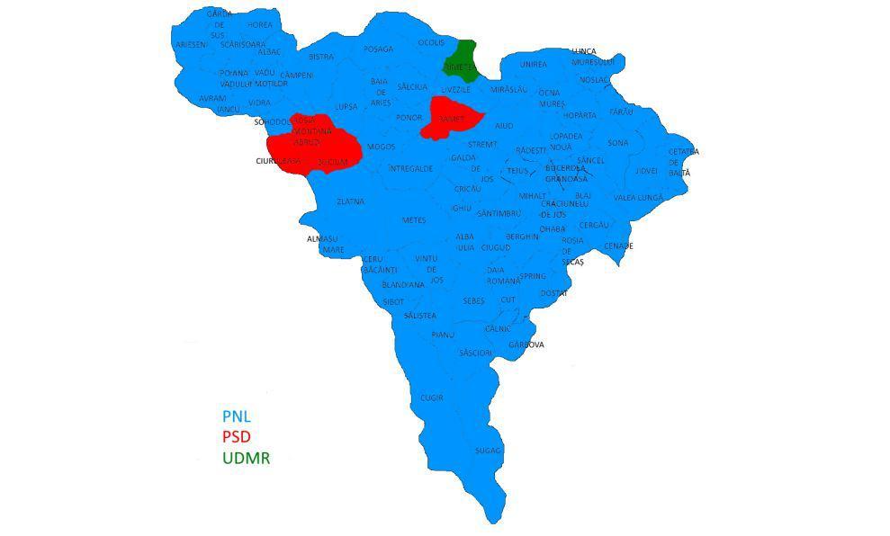 Harta Redutelor Psd Din Alba Unde A Caștigat Viorica Dăncilă