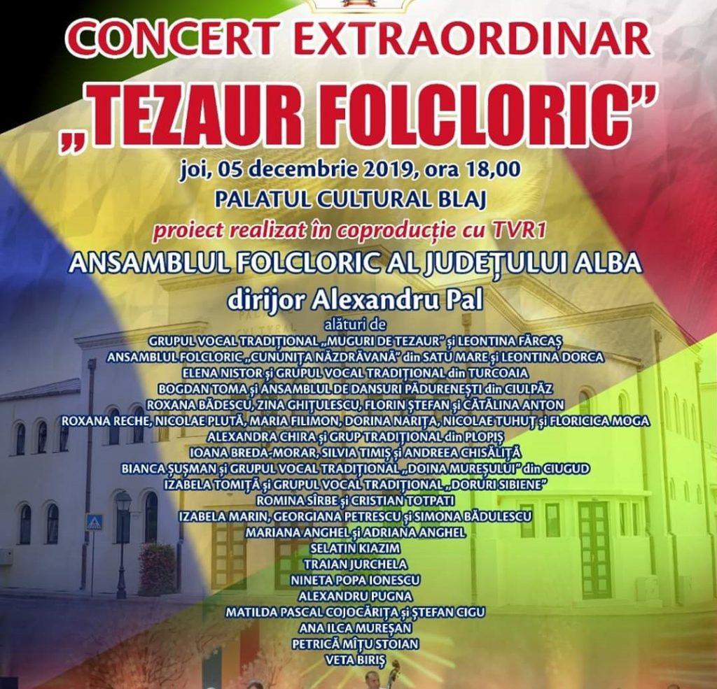 Afis Tezaur Folcloric Blaj 5 dec 2019
