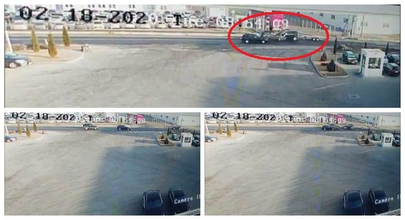 VIDEO: Momentul IMPACTULUI dintre două mașini, la ieșirea din Sebeș, surprins de camerele de supraveghere