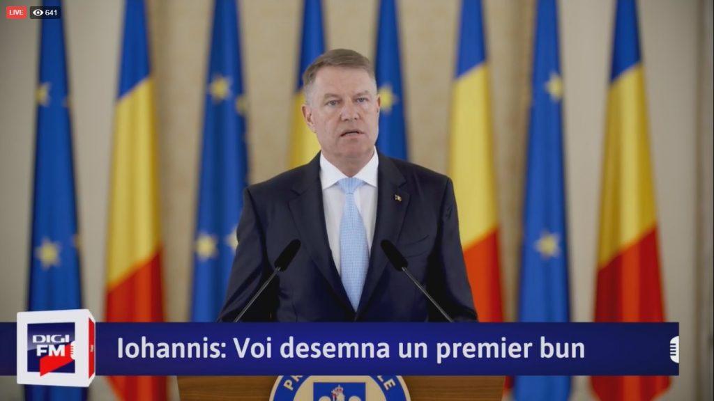 LIVE VIDEO – Declarații Klaus Iohannis: Ludovic Orban și-a depus mandatul de premier desemnat