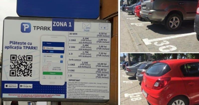 PARCĂRI cu PLATĂ la Alba Iulia: Au fost montate indicatoare. Când ar putea intra în vigoare TARIFELE, ce trebuie să știe șoferii
