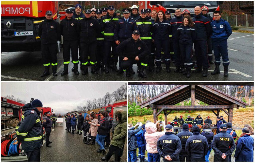 FOTO: Pompieri francezi și polonezi, la ISU Alba, în cadrul proiectului european Erasmus Plus – Tehnologii pentru Pompieri
