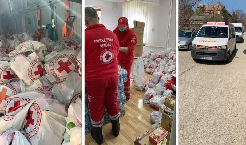 UPDATE FOTO: Aproape 200 de pachete cu alimente vor fi distribuite persoanelor vârstnice, bolnave sau fără aparținători din Aiud