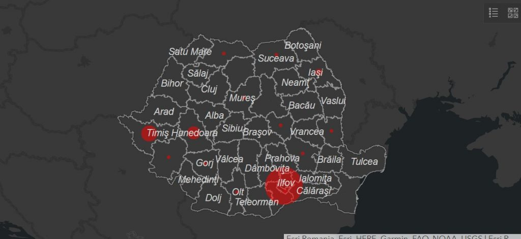 Harta Live A Cazurilor De Covid 19 Din Romania Cazurile Din