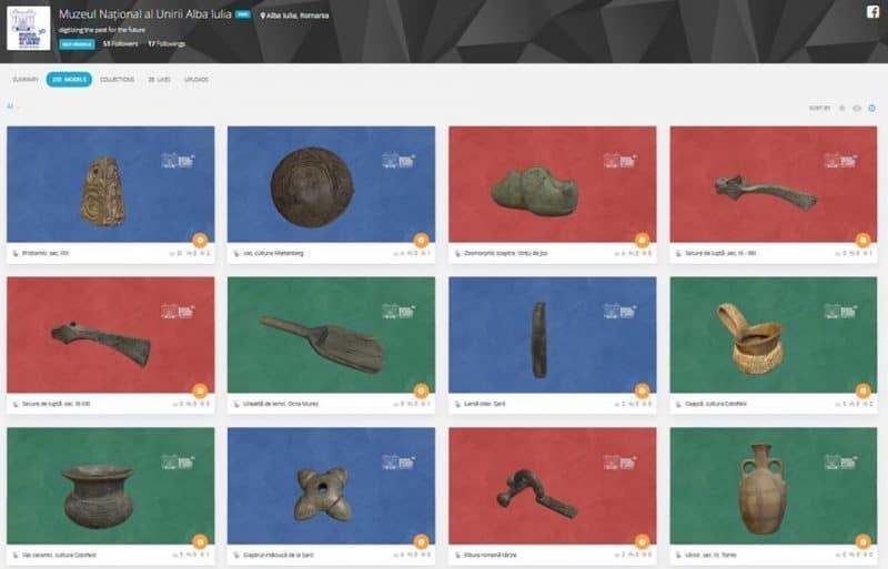 Piese arheologice de la Muzeul Unirii din Alba Iulia, digitizate în cadrul unui nou proiect: ARHEO 3D. Vezi COLECȚIA VIRTUALĂ